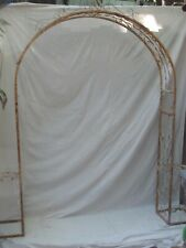 """Vintage Iron Garden Arch / Arbor Curved Shape Top 81"""" Wide"""