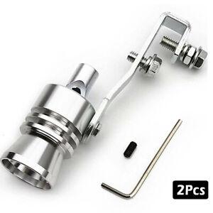 2xFake Turbo Sound Whistle Muffler Exhaust Pipe Simulator Whistler BOV Aluminum