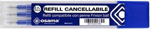 Ricariche Compatibili con Penne Frixion Ball Riscrivi Refill Cancellabile, Blu