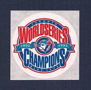 Toronto Blue Jays 1992 1993 World Series Champions MLB Decal Sticker