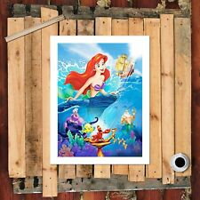 "8""x10"" Disney The Little Mermaid HD Print on Canvas Home decor Wall art Painting"