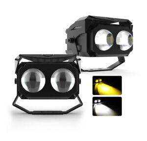 2X 100W White/Yellow LED Work Light Bar Spot Light Driving Lamp For Car Offroad