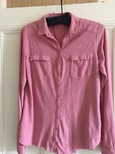 FATFACE PINK DUSTY ROSE LONG SLEEVE COTTON BLOUSE SIZE 8 Bnwot