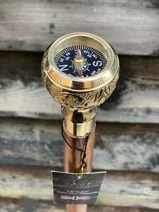 Compass Handle Walking Cane /  Royal Engineers Walking Stick Royal Foldable Cane