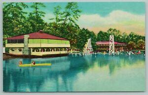 Eureka Springs Arkansas~Lake Lucerne~Docks~Vintage Postcard