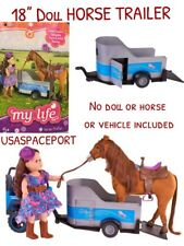 18-in Doll towable HORSE TRAILER for My Life as American Girl Boy R/C Jeep Truck