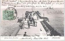 Montevideo, Uruguay - Banos delos Poccitos, pier - postcard, stamps 1908