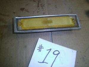 1981 1987 CHEVROLET GMC C10 K10 RIGHT PASSENGER FRONT AMBER MARKER PARK LIGHT