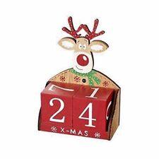 Reindeer Christmas Advent Wooden Block Countdown to Christmas Gift Set