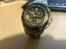CITIZEN ECO-DRIVE SKYHAWK BLUE ANGELS DATE Stainless Steel C650 MEN WATCH