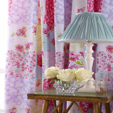 Rideaux et cantonnières rose à motif Floral pour la chambre