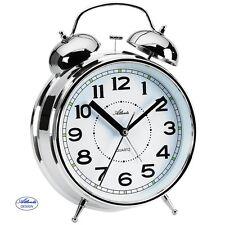 ATLANTA 1648/19 Réveil quartz Argent Réveil-matin Mécanique à Double Sonnette