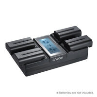 Andoer NP-F970 4-Channel Digital Camera Battery Charger Display for S ony R7L1