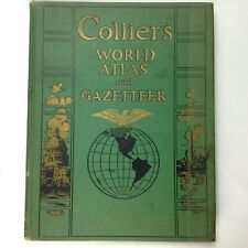 1943 Collier's World Atlas and Gazetteer Book of Maps and Facts