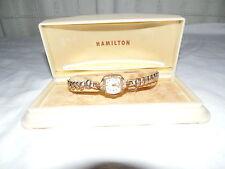 Vintage ladies Hamilton 10kt gold filled watch w/original vintage case