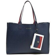 New Tommy Hilfiger Reversible Tote Women's handbag Multi Color Wallet Bag Set