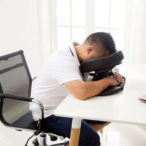 Comfort PU Massage Table Face Down Cradle Cushion Nap Sleeping Pillow Black