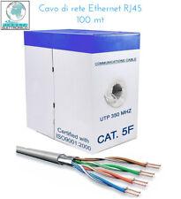 MATASSA CAVO DI RETE FTP CAT 5E LAN ETHERNET 5 E INTERNET NO SCHER 100 METRI