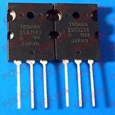 10pairs OR 20PCS TOSHIBA TO-3PL 2SA1943-O/2SC5200-O 2SA1943/2SC5200 A1943/C5200