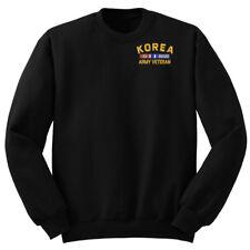 Law Enforcement Military SWEATSHIRT PULLOVER KOREA ARMY VETERAN RIBBON