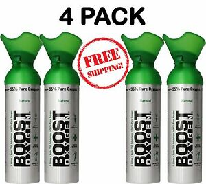 4 Pack Emergency Oxygen Bar In A Can Boost Oxygen Therapy Natural Energy Large