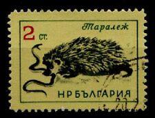 Igel mit Schlange. 1W. Gest. Bulgarien 1963
