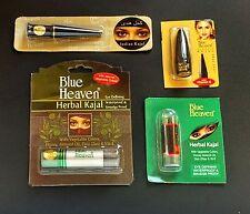 """4 mixed BLUE HEAVEN herbal KAJAL"""" Kohl Eye Liner VITAMIN E Natural belly dance ."""
