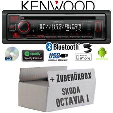 Kenwood Autoradio für Skoda Octavia 1 1U Bluetooth Spotify CD/MP3/USB Einbauset