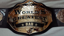World's Greatest Dad Championship Belt WWE WCW TNA BRAND NEW! REAL METAL BELT!