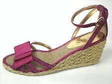 RALPH LAUREN ESPADRILLES Sandals Claudie Wedge Heels PINK Women's US 7 EU 37 $79
