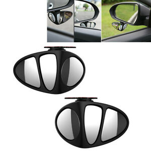 2 pcs Blind Spot Mirror Auto 360° Wide Angle Rear Side View For Car Truck SUV