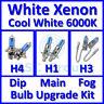 Blanc Froid 6000k Ampoule Phare Xénon Set Principal Niveau Brouillard H4 H1 H3