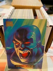 1994 Marvel Masterpieces Trading Cards COMPLETE BASE SET, #1-140 Mid Grade