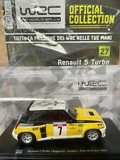 Modellino Auto Macchina Rally WRC n 27 Renault 5 Turbo Ragnotti 1982 Scala 1:24