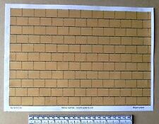 """Dolls house 1/12th scale """"Yellow roof tile"""" paper - A4 sheet (297x210 mm)"""