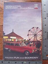 Original 1962 62 Ford Falcon Sports Futura Wagon Sales Brochure Newsletter