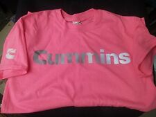 XL Cummins dodge diesel t shirt top safety pink short sleeve reflective CUMMINGS