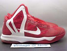 Nike Air Max Hyperaggressor TB Red White Basketball Shoes 2012 sz 12.5