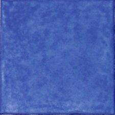 """Spanische Fliese, einfarbig Antikstil 15x15 cm, """"Cobalto"""" (Blau)"""