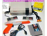 Nintendo NES REFURBISHED Console Game Original System Bundle Super Mario Zapper