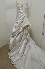 SOTTERO Midgley Couture Imperial Wedding Gown Corset Back Ruched Beaded 16