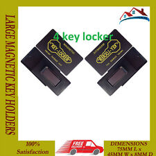 NEW 4 LARGE MAGNETIC KEY HOLDER HOME OFFICE SAFE BOX CAR BOAT SPARE KEYS HIDING