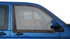 2 Quality Cab Window Mosquito Nets 4 VW T5 / T6 campe with magnets Brown C9074