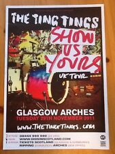 The Ting Tings, Poster, Rare, Collectable, Rock, Memorabilia, Concerts, Gigs