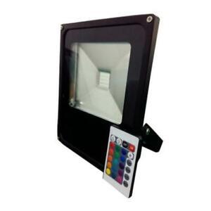 Projecteur LED RGB 10W Extérieur IP66 Plat NOIR - Noir - SILAMP