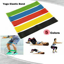 O5 PCS Resistance Bands Loop Yoga Pull Up Exercise Fitness Strength Training Gym
