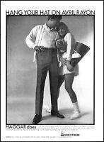 1969 Cheerleader football Hagar men's slacks vintage photo Print Ad adL37