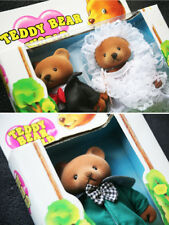 3 TEDDY BEARS: WEDDING COUPLE & MORE (OSO). VHTF, BRAND NEW BOXES, OLD STOCK!
