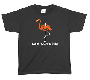 Flamingoween Halloween Boys Girls Unisex Funny T-Shirt