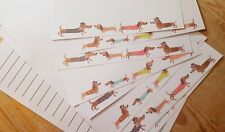 Colourful Dachshund Dogs Letter Writing Paper & Envelopes Stationery Set